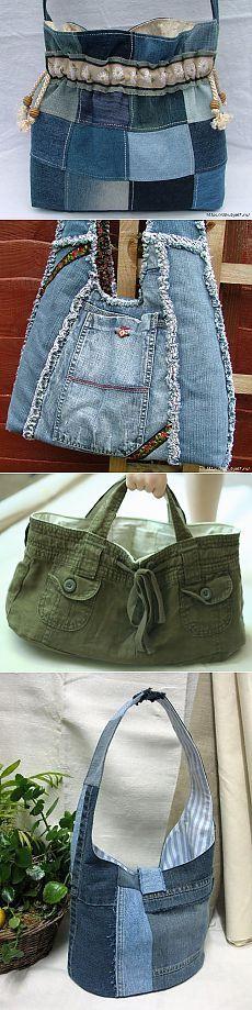 Altérations Denim - un sac de jeans - Artisanat