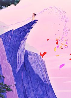 Pocahontas (climactic cliff scene). I'd love to have a mural of this on my wall--but first, I need to find someone who can actually ART. LOL