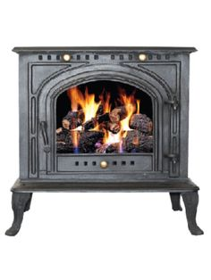 Invincible Pallinghurst 12 kw Must ensure that a small brick wall enclosure is built around to trap the heat Gas Fireplace, Fireplaces, Fire Stock, Freestanding Fireplace, Brick Wall, Cast Iron, Stove, Living Spaces