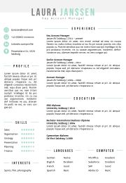 resume template in ms word including matching cover letter template 2 color versions in - Template Cover Letter For Resume