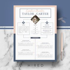 Resume infographic : CV design Creative CV resume template ms Word & Pages - Resumes. Modern Cv Template, Cv Resume Template, Resume Format, List Template, Cv Original Design, Conception Cv, Cv Digital, Cv Curriculum Vitae, Cv Inspiration
