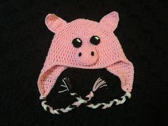 Ravelry: Crochet Pig Hat Pattern pattern by Megan Unay