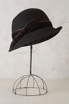 Chesterton Velvet Trim Cloche #anthropologie.  CALLANAN millinery cloche hat available at Anthropolgie.