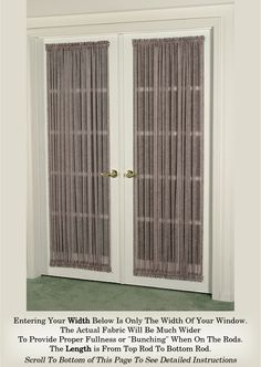 French Door Curtain Multi Color Sheers (Door Curtains)