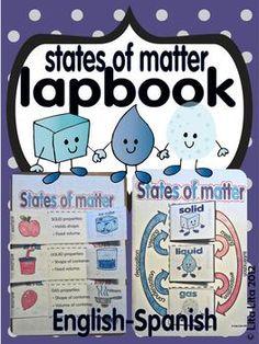States of matter lapbook English-Spanish