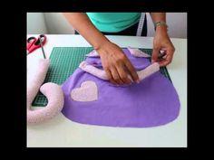 Almofada de gatinho passo a passo com Arte de paninho - YouTube