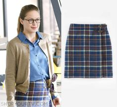 Supergirl: Season 1 Episode 8 Kara's Blue Plaid Skirt