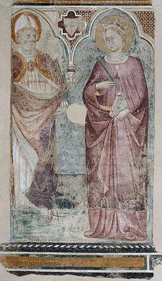 Cenni di Francesco 1405-10 Santi Museo di Arte Sacra di Certaldo - Cenni di Francesco di ser Cenni -San Martino e santa Caterina di Alessandria, Certaldo, Museo di arte sacra, 1405 - 1410