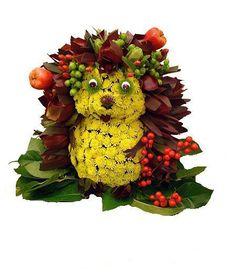 Erizo floral. Mascotas florales.