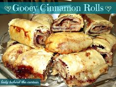 Lady Behind The Curtain - Gooey Cinnamon Rolls - What my Mom always called pie crust roll ups - good memories
