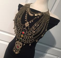 Kuchi Jewellery Exotic Kuchi Necklace-antique Necklace-collectible statement necklace-Billy Dance Jewellery-Middle Eastern Neck PieceVintage