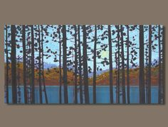 semi abstract painting panoramic painting by SageMountainStudio