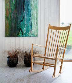 Beautiful rocking chair #danish #design Hans J Wegner - Loved by @Denmark House