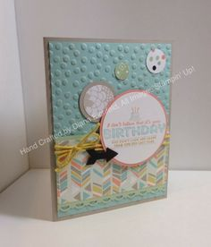 Stampin' Fun with Diana: Sketch Frenzy Friday Sketch Challenge: See Ya Later, Big Shot, Sale-a-Bration, Card, Birthday, Framelits, Thinlits, Stampin' Up, Diana Eichfeld