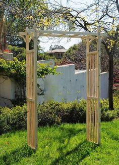 Wood garden trellis arch