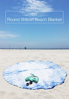 You can make your very own Roundie Beach Blanket using the Shibori technique for less than $10! Come see how over at Drawn to DIY.