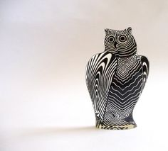 1970s Op Art Lucite Owl by Abraham Palatnik