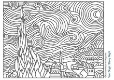 Free Printable Famous Art Colouring Pages for Kids *Updated*
