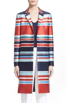 Main Image - Nordstrom Signature and CarolineIssaStripe Wool & Silk Topper