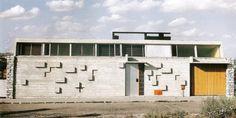 """Claude Parent avec Jean Perdrizet,  Maison """"Espace"""" (maison Perdrizet), 44 Allée Watteau, Champigny-sur-Marne, 1955-57"""