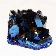 Sunset Cobalt Aura Quartz Crystal Cluster
