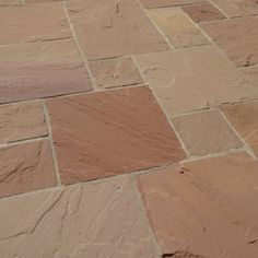 Sandsteinplatten Modak, naturgespalten - jonastone - Fitness and Gym Sandstone Slabs, Limestone Paving, Budget Patio, Diy On A Budget, Simply Storage, Storing Garden Tools, Garden Shed Diy, Garden Ideas, Paving Ideas