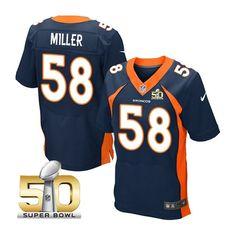 Denver Broncos #58 Von Miller Navy 2016 Super Bowl 50 Elite Jersey