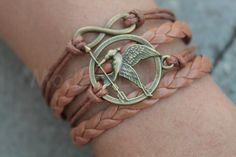 Hunger Games jewlery Hunger Games bracelet brown by ModernLeisure, $9.99