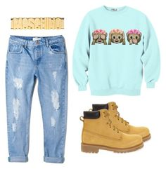 """""""Autumn"""" by fruktamunta ❤ liked on Polyvore featuring MANGO, Docksteps and Moschino"""
