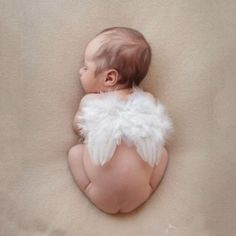 Adorable Baby Halo and Wings Prop Set for newborns Ideal for photography session