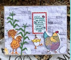 Bird Cards, Stamping Up Cards, Coq, Animal Cards, Farm Animals, Cardmaking, Stampin Up, Birthday Cards, Scrapbooking