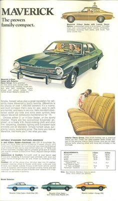 Classic Car News Pics And Videos From Around The World Ford Classic Cars, Classic Trucks, Classic Auto, Muscle Cars, Ford Maverick, American Motors, Old Fords, Car Advertising, Us Cars