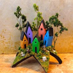 Woodland Miradors...  I love these tiny fairy houses by bewilderandpine!!!