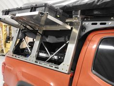 Jeep Discover Dissent offroad aluminum rack system Click this image to show the full-size version. Truck Roof Rack, Truck Storage, Overland Truck, Overland Trailer, Truck Bed Camper, Truck Camping, Nissan Trucks, Ford Trucks, Ford Ranger