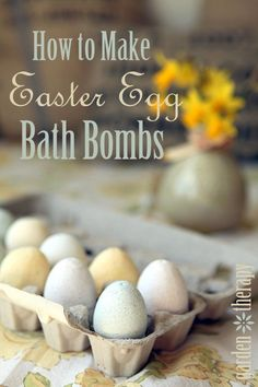 How to Make Easter Egg Bath Bombs - no calories!!