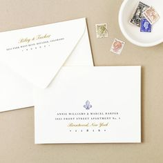 Printable Wedding Envelope Template | INSTANT DOWNLOAD | Fleur De Lis | Calligraphy Alternative | for Word or Pages Mac & PC  #Wedding #Weddinginvitations #Fleur de lis invitations #Printable Wedding