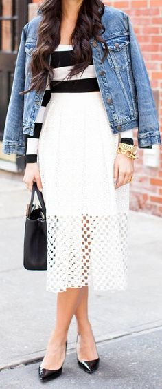 Love LOVE love that skirt ...! Tibi White Sonoran Eyelet Embroidered Pleated Full Skirt by With Love From Kat