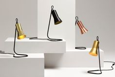Silhouette Desk Lamp by Ross Gardam - Made in Melbourne Desk Light, Light Table, Lamp Light, Interior Lighting, Home Furniture, Furniture Design, Winter Light, The Design Files, Kitchens