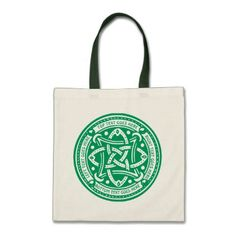 Create Your Own Celtic Knot Shamrock Green Irish Tote Bag - pattern sample design template diy cyo customize