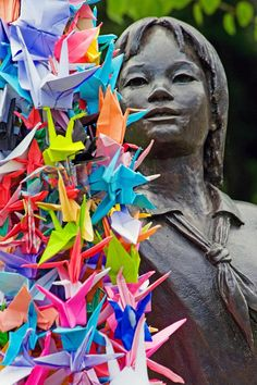 I looked at the paper, I saw the origami one thousand. Origami Folding, Origami Art, Origami Cranes, Paper Cranes, Green Lake Park, 1000 Cranes, Origami For Beginners, Crane Bird, Unity In Diversity