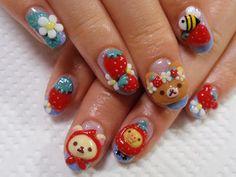 ☮✿★ Kawaii Nails for Girls ✝☯★☮ Garra, Cute Nails, Pretty Nails, Kawaii Nail Art, Japanese Nail Art, Best Acrylic Nails, Dream Nails, Cute Nail Designs, Nails Inspiration