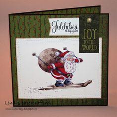 Lindas papercrafting: Julekort laget på treffet på Stempelscrap messa del 2