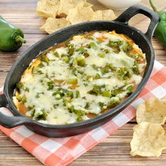 Easy dip recipe inspired by the popular Mexican dish. This Chili Relleno Dip makes a great appetizer for a Cinco de May or other Mexican themed party.