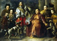 Name: Family Portrait Artist:Schultz, Daniel II. Date: 1664 Description: in this family portrait there is something that is very creepy; that every face has a lot of similar distinction about them like similar eyes, noses, and cheek bones. Family Portrait Painting, Family Portraits, Rembrandt, A4 Poster, Poster Prints, Baroque, Best Crime Novels, Philippe De Champaigne, King Painting