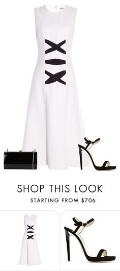 """Untitled #3270"" by injie-anis ❤ liked on Polyvore featuring Balenciaga, Jimmy Choo, Rocio and monochrome"