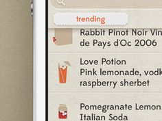Dribbble - Shindig iOS App Trending Drink Recommendations by Meng He