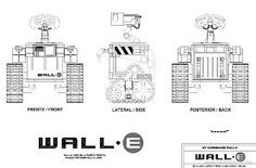 Image result for wall e robot blueprint