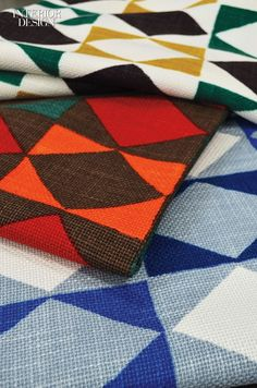 35 New Fabric and Wallcovering Products that Will Turn Heads   Richard Smith's Harlequin rayon-ramie by No. 9 Thompson. #interiordesign #design #interiordesignmagazine #products #fabrics #upholstery