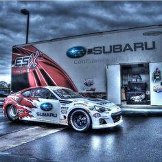 Sick pic of @aliafsharesx Subaru race car and trailer that we des - http://www.stickercity.com/sc-vehicle-wraps/sick-pic-of-aliafsharesx-subaru-race-car-and-trailer-that-we-des
