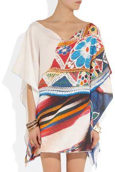 MARIO TESTINO FOR MATE Qepi printed cotton and silk-blend twill kaftan  NET-A-PORTER.COM